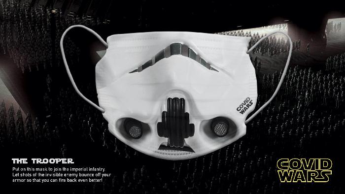 """Covid Wars"" maskeleri koronavirüse karşı"