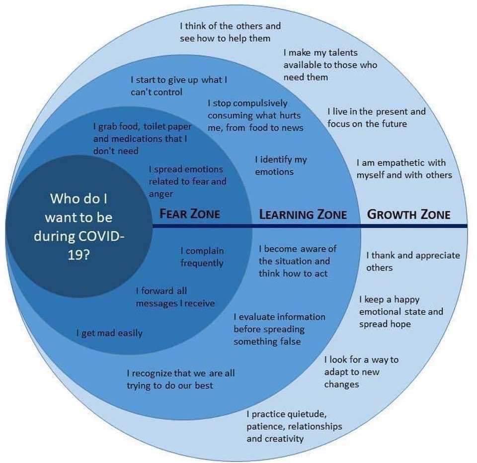 Koronavirüs salgınında davranışlarınız hangi bölgede yer alıyor?