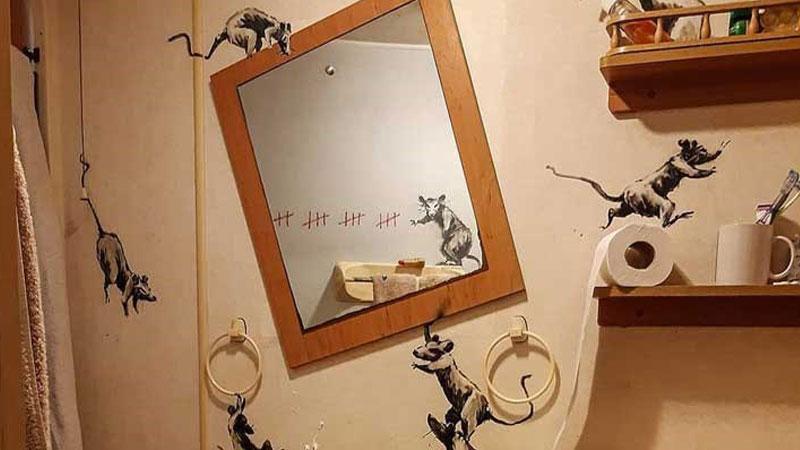 """Sokak sanatçısı Banksy de """"home office"""" çalışıyor"""