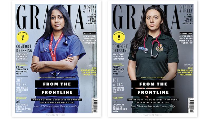 Grazia, dergi kapağında modeller yerine sağlık çalışanlarına yer verdi