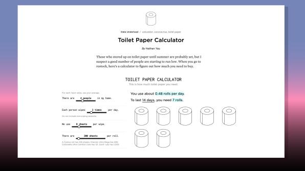 """Tuvalet kağıdınız bitecek diye korkuyor musunuz? Karşınızda """"Tuvalet Kağıdı Hesaplayıcısı"""""""