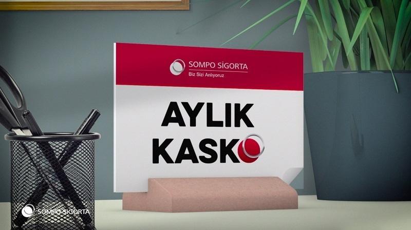 Sompo Sigorta'nın aylık kasko reklamı yayında