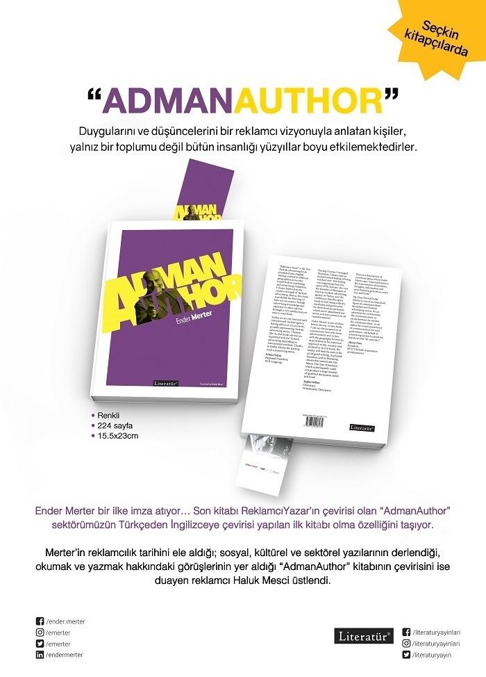 "İlklerin kitabı: ""Adman Author"""