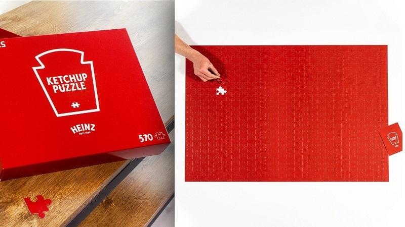 """Heinz evdeki sıkıntıya sıkıntı katıyor! Marka 570 parçalık bir """"Ketçap Puzzle""""ı tasarladı..."""