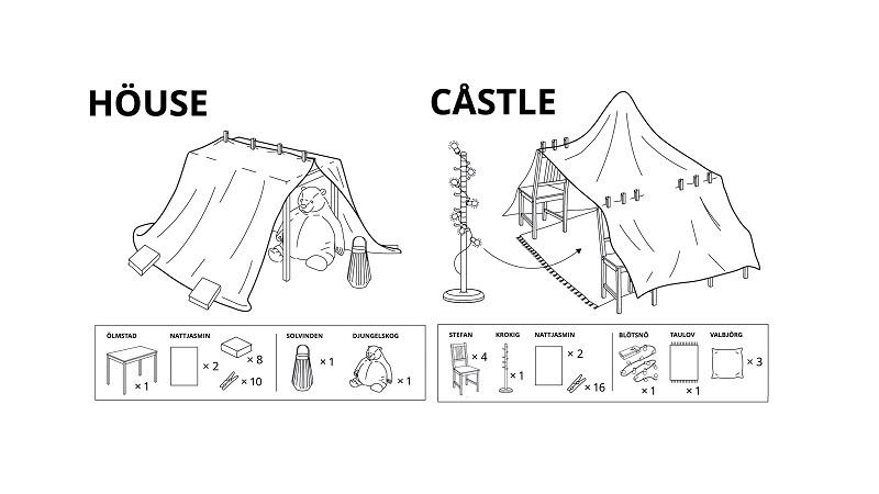 IKEA'nın yeni kılavuzu ebeveynlere evdeki eşyalarıyla IKEA evi yapmayı gösteriyor