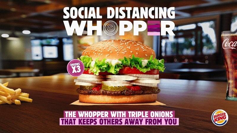 Sosyal mesafe Whopper'ı!