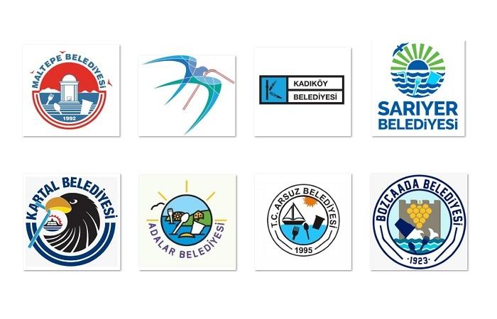 Belediyelerin logolarını plastik atıklar bastı!