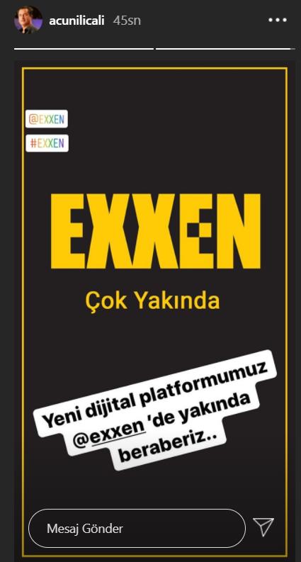 Acun Ilıcalı yeni dijital platformu Exxen'i duyurdu!