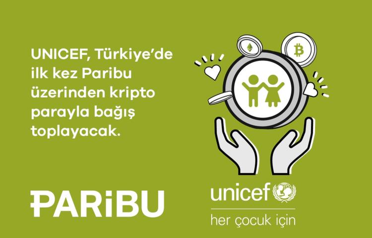 UNICEF Türkiye, Türkiye'de ilk kez kripto para ile...
