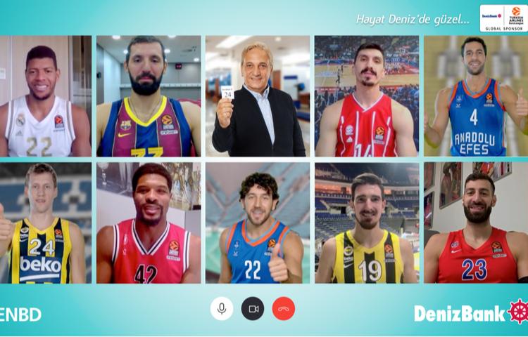 Basketbolun yıldızları DenizBank'ın yıldızları ile buluştu