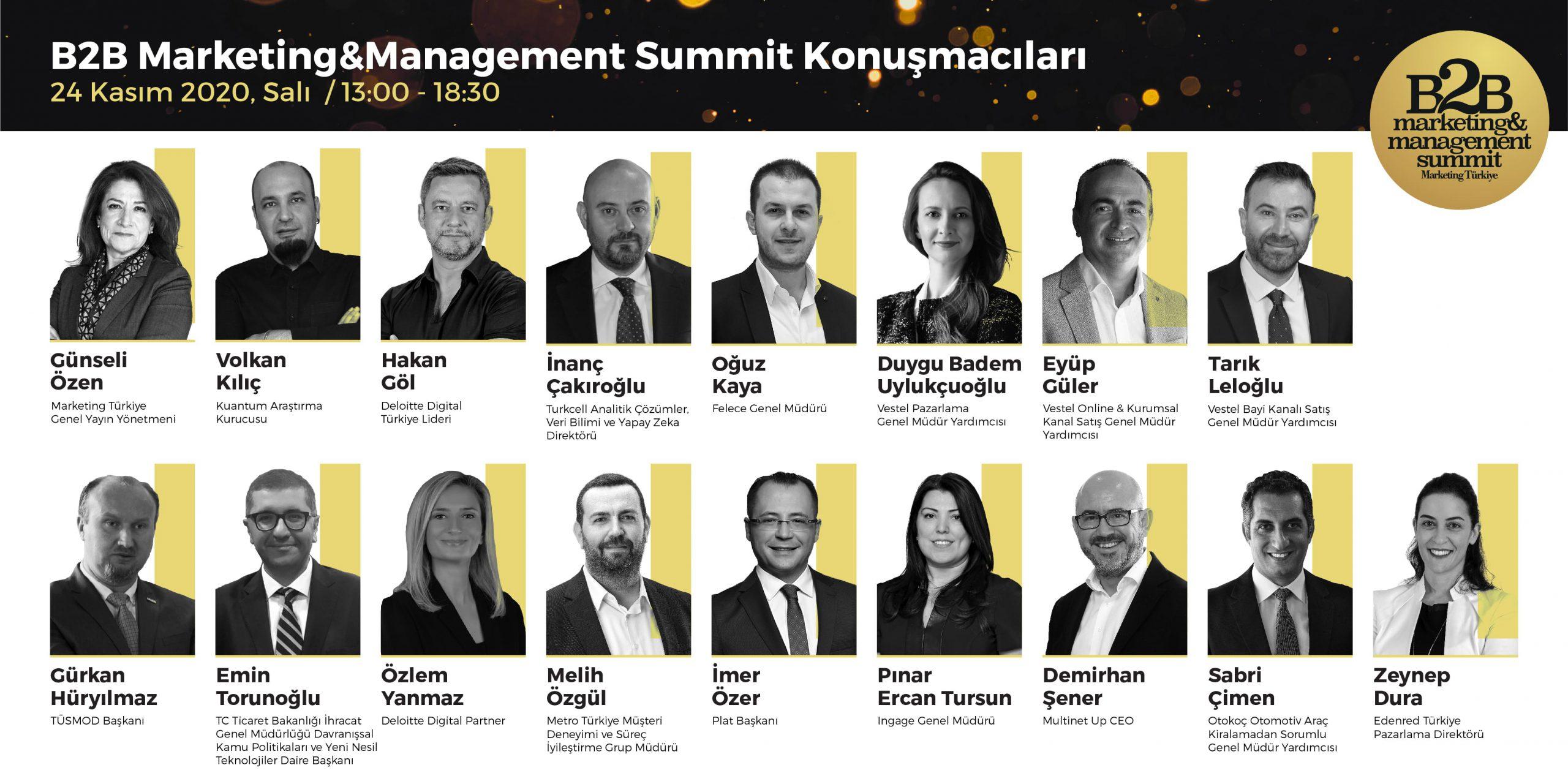 B2B Marketing & Management Summit'e hazırız…