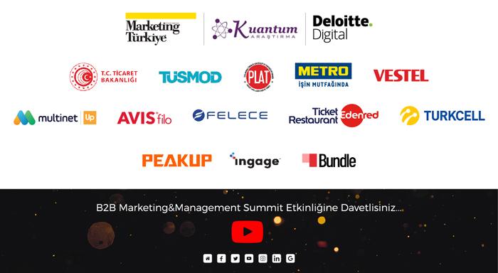 Türkiye'nin ilk ve en kapsamlı B2B zirvesinin destekçileri belli oldu