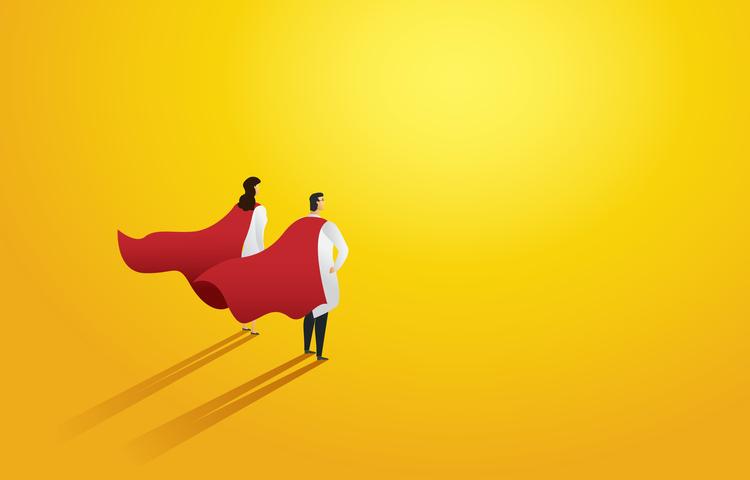 sağlık çalışanı kahraman şampiyon hero süperman