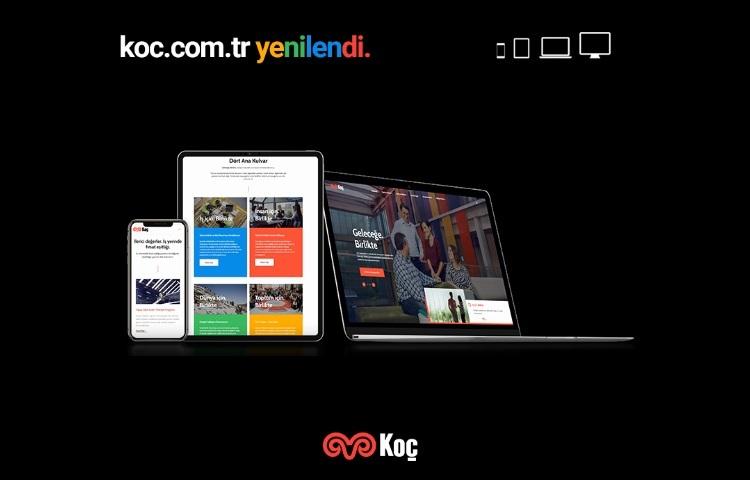 """Koç Holding'in web sitesi """"Geleceğe. Birlikte"""" temasıyla yenilendi"""