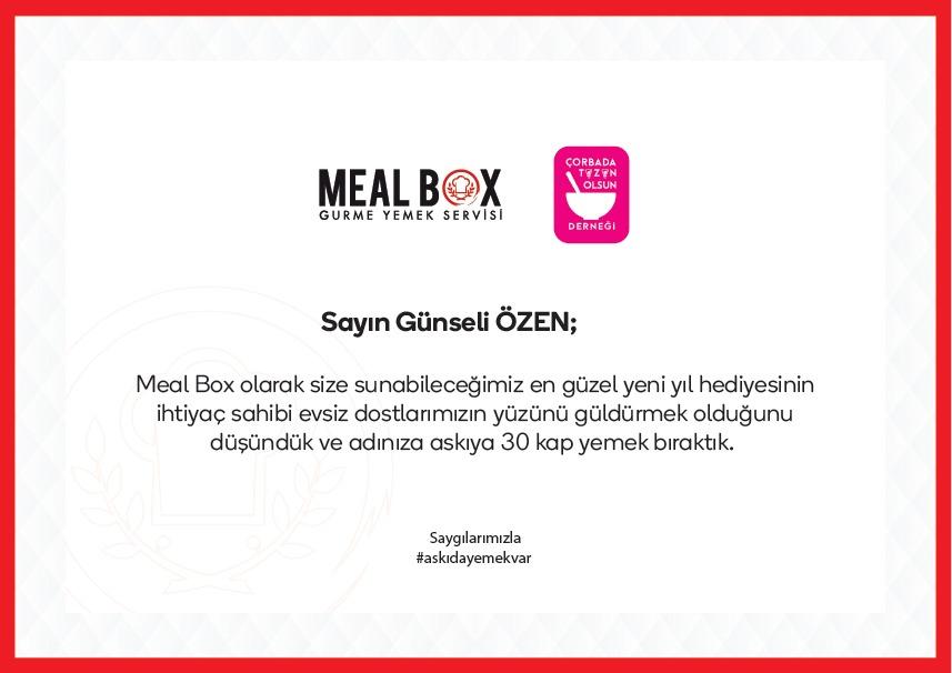 """Meal Box'dan büyüyen iyilik hareketi: """"Askıda Yemek Var"""""""