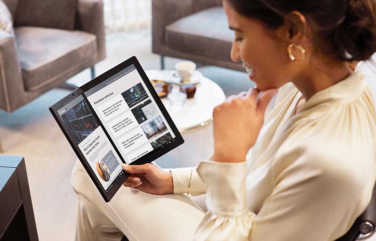 Lenovo'dan dünyanın ilk katlanabilir bilgisayarı: ThinkPad X1 Fold