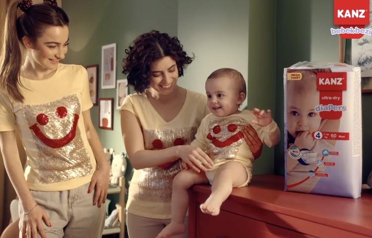 Kanz bebek bezi sektörüne geçişini yeni reklam filmiyle duyurdu