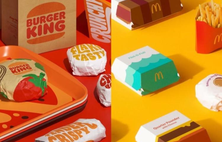 Burger King'in yeni görsel kimliği McDonald's'ı...
