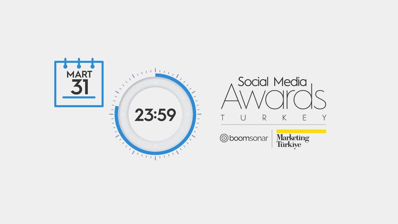 Social Media Awards Turkey 2021 için son başvuru tarihi 31 Mart Çarşamba!