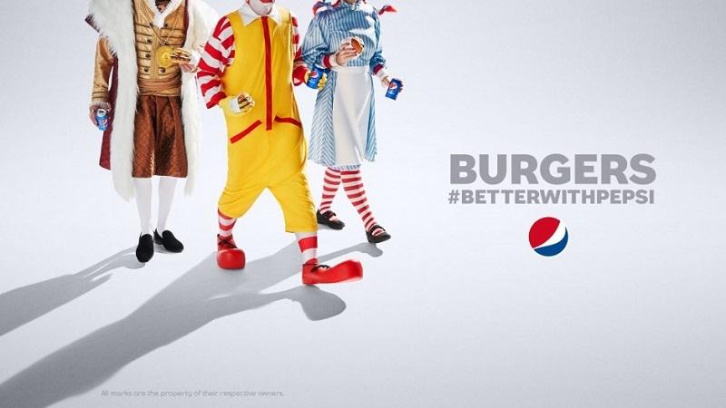 Pepsi, Coca Cola- burger kombinasyonuna meydan okuyor