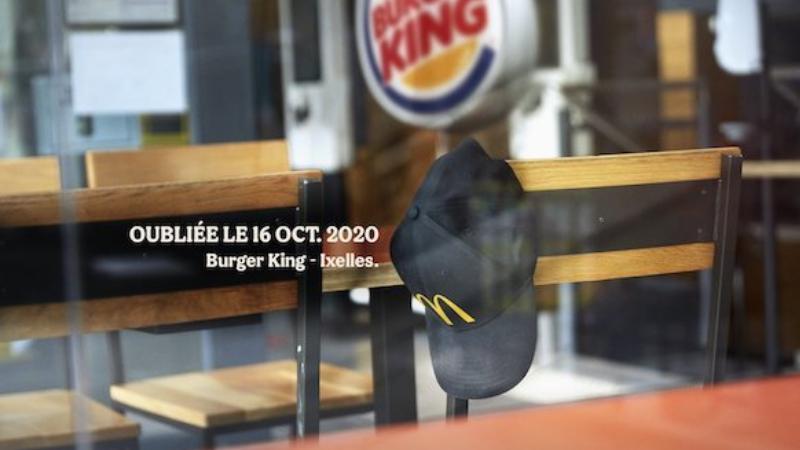 Burger King'de Unutulan McDonald's Personel Şapkası
