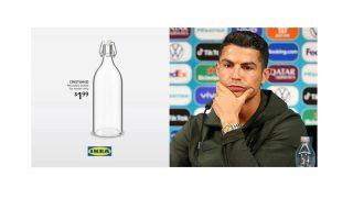"""Ronaldo'nun hamlesi Ikea'ya ilham oldu: """"Cristiano"""" su şişeleri satışta"""