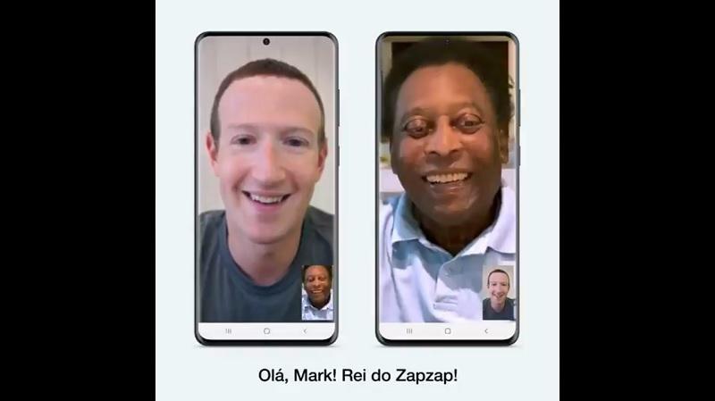 Futbol Efsanesi Pele, WhatsApp reklamı için Mark Zuckerberg'i aradı!