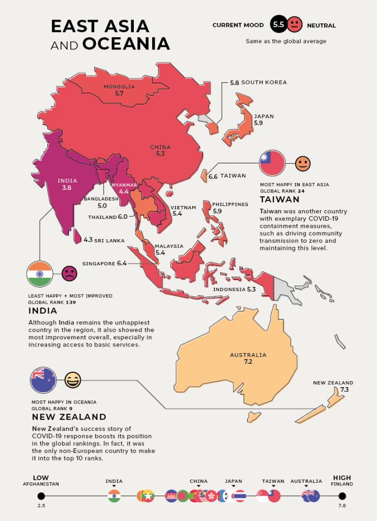 Dünyanın mutluluk haritası!