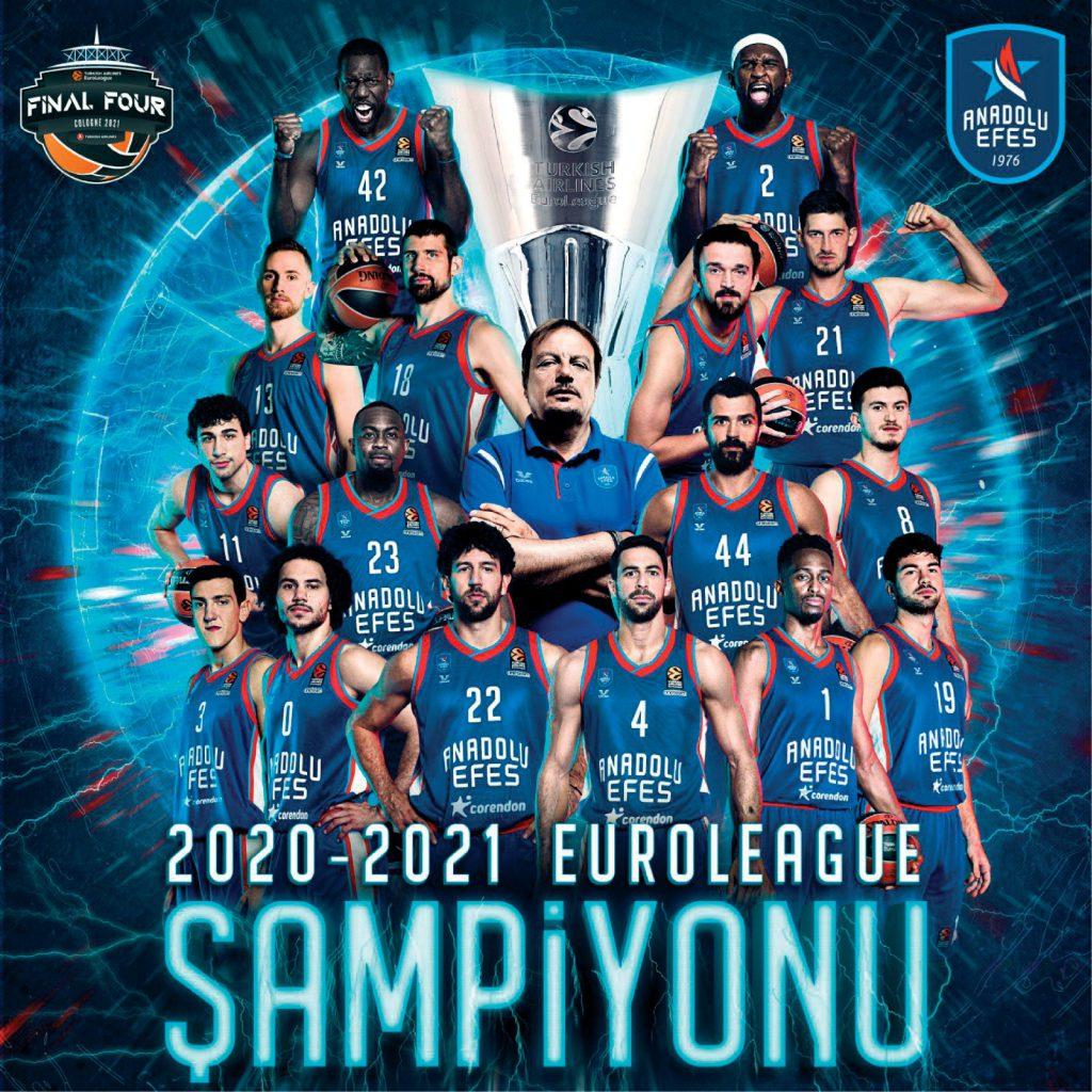EuroLeague şampiyonu Anadolu Efes