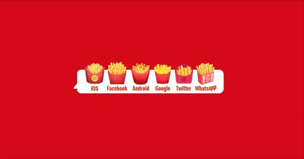 McDonald's patates kızartması emoji