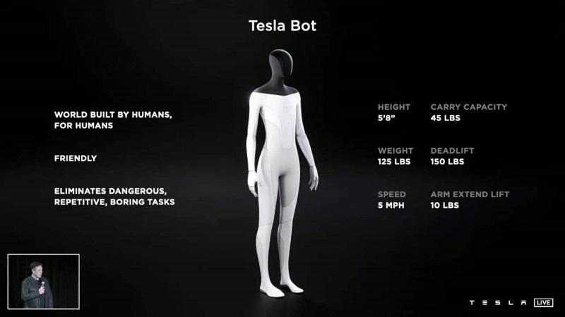 Sahne sırası Elon Musk'ın robotunda