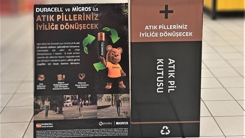 Sürdürülebilir bir dünya için Duracell ve Migros el ele verdi